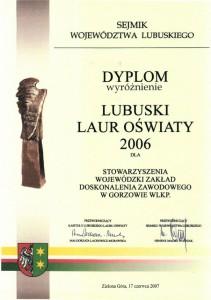 Lubuski Laur Oświaty 2006